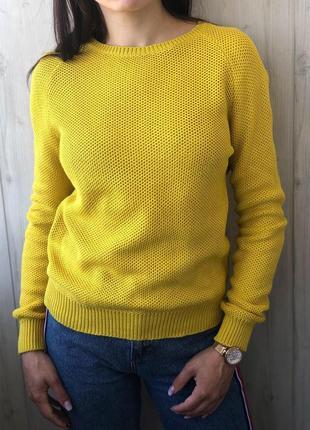 Желто лимонный джемпер свитер от дорого бренда cos