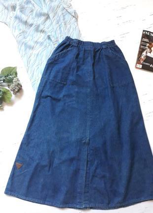 Длинная джинсовая юбка uk12