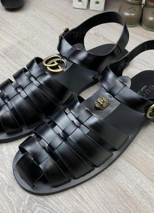Стильные мужские кожаные сандалии1 фото