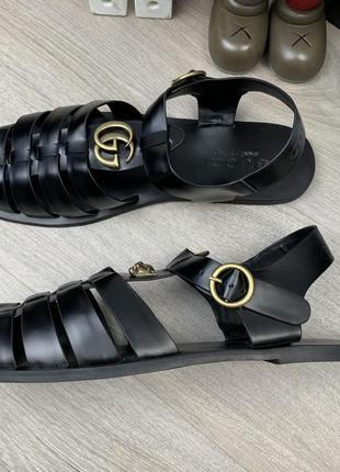 Стильные мужские кожаные сандалии3 фото