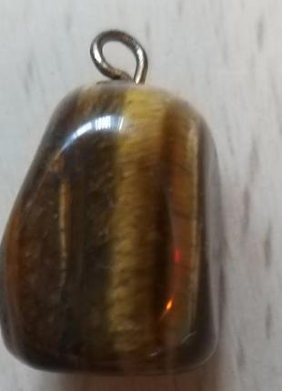 """Кулон в подарок из натурального камня """"тигровый глаз """" в подарок при покупке от 100 гр!"""