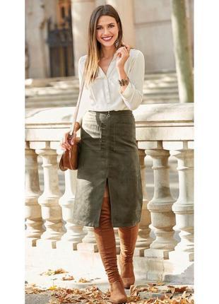 Стильная юбка миди высокой посадки с накладными карманами от miss selfridge размер s