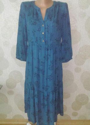 Красивое легкое платье  в бохо стиле  из натуральной ткани  mantaray