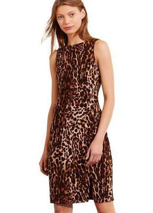 Платье с леопардовым принтом, l