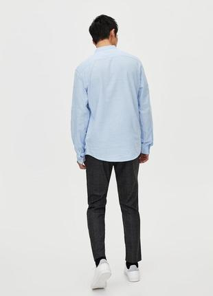 Рубашка с воротником-стойкой3 фото