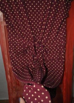 Платье в горошек приятного бордового цвета!