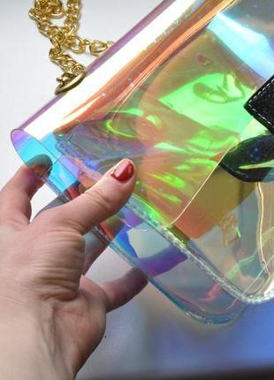 Стильна та оригінальна прозора сумка на плече хіт