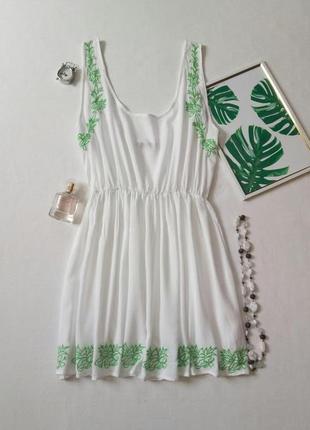 Пляжное платье с вышивкой,  сарафан