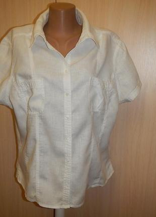 Льняная блуза cherokee р.20