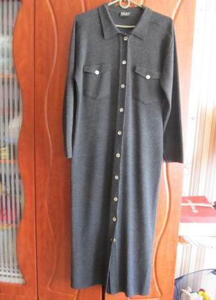 Шикарное дизайнерское шерстяное пальто кардиган
