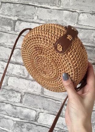 Сумка соломенная, сумка плетёная, сумка ротанг.2 фото