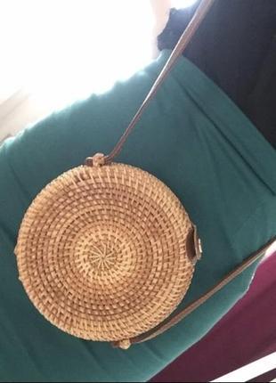 Сумка соломенная, сумка плетёная, сумка ротанг.3 фото
