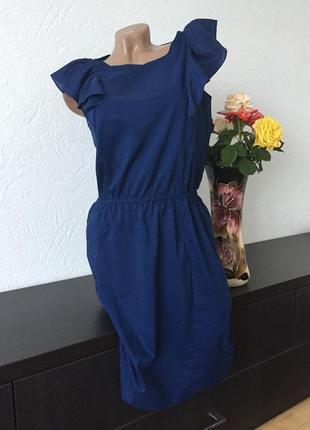 Gap платье на резиночке с рюшами р.36/38