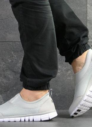 Nike free run 3.0 серо-белые