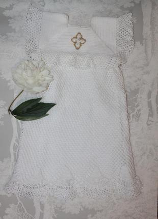 Нежнейшее крестильное платье ручной работы/надзвичайно ніжна сукня для хрещення