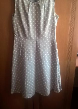 Платье в горошек d36 f38 _сomma