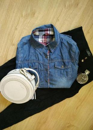 Хлопковая рубашка под джинс турция