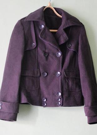 Куртка осенняя кашемировая фиолетовая