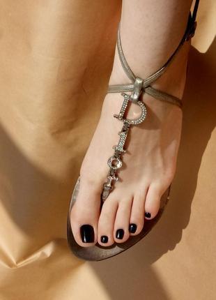 Брендовые кожаные сандалии босоножки мюли шлепки christian dior оригинал
