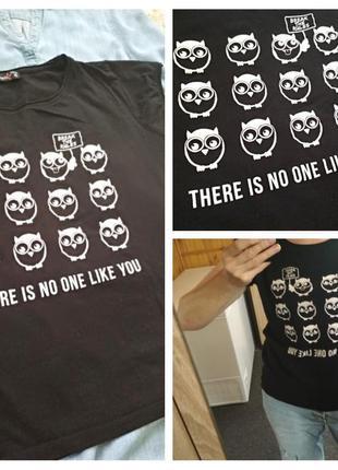 Стильная футболка в принт-сова, fb sister, p. 12-14