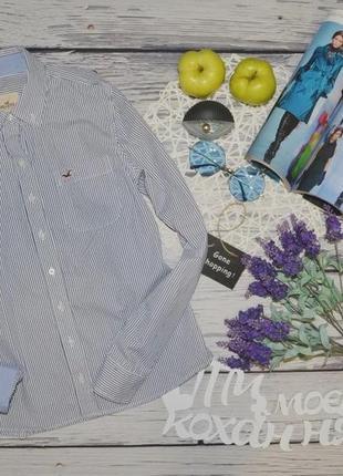 М фирменная женская рубашка блузка блуза полоска hollister холистер