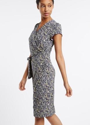 Повседневное брендовое платье на запах плаття uttam london