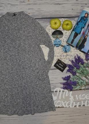 S/6/32 женское фирменное базовое платье резинка мидди трикотаж river island