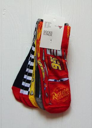 H&m. размер 34-36. новый яркий комплект из 5-ти носков для мальчика