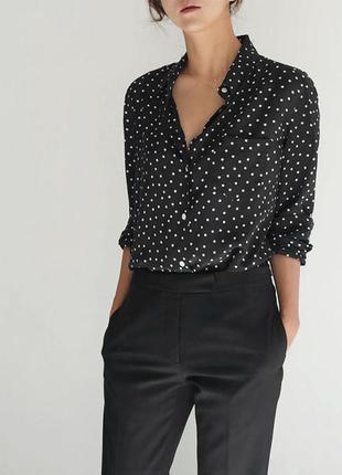 New look классическая рубашка в горошек горох