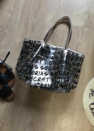 Прозрачная сумка с косметичкой виктория секрет