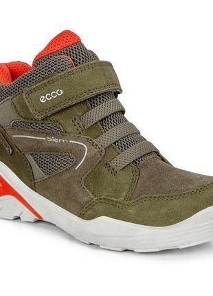 Ecco biom vojage - кожаные ботинки с gore - tex