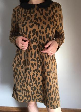 Zara women's,платье в анималистический принт ,леопардове плаття ,плаття в принт