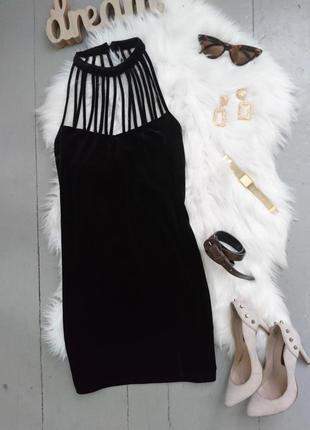 Нарядное велюровое бархатное коктейльное платье №505