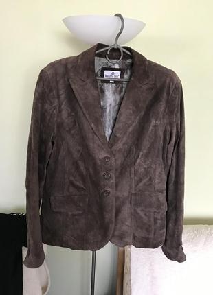 Нубуковый пиджак