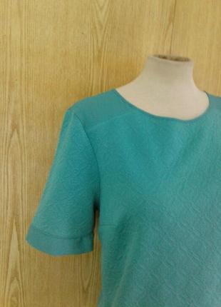 Кремпленовая зелёная блузка с шифоновыми вставками,l.