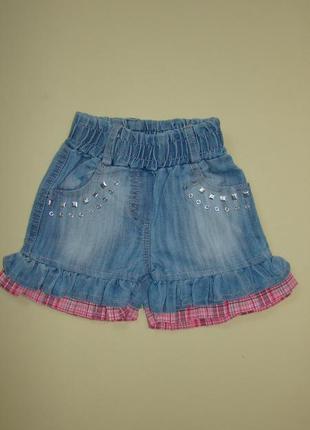 Джинсовые шорты - юбка 1-2 года
