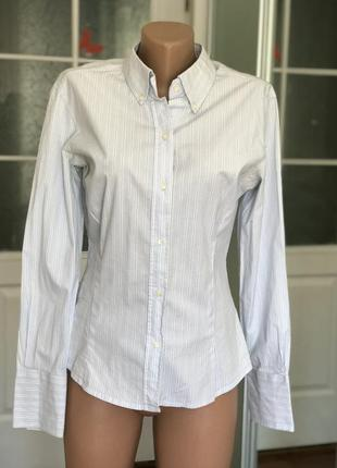 Рубашка блуза зара zara в мелкую полоску