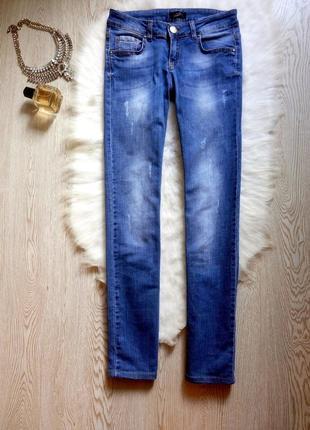 Синие голубые светлые прямые джинсы трубы стрейч брендовые giuseppe zanoti брюки