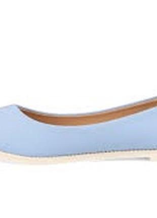Голубые балетки туфли лаковые на танкетке балетки с острым носком