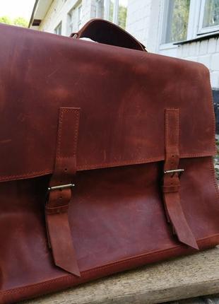Шкіряний сумка- рюкзак