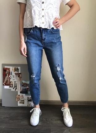 Базовые мом-джинсы george