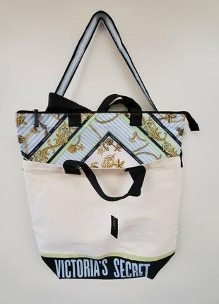 2 в1: пляжная сумка и кулер от victoria's secret.