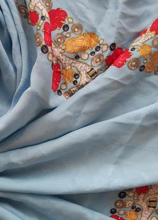 Шелковый шикарный платок косынка шарф must de cartier
