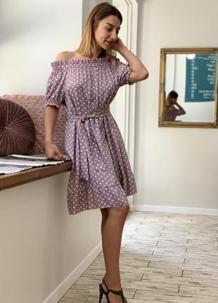 Платье оверсайз в горох family look2 фото