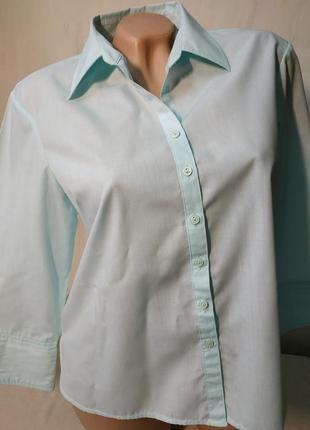 Нежная светлая блуза рубашка рукав 3/4 пог 53 см atmosphere