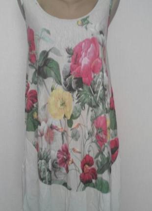 Шикарное  хлопковое  платье-сарафан blu royal