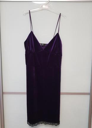 Бархатное, велюровое платье missguided