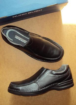 Nunn bush patterson из сша. (43р, 28см). мужские кожаные классические туфли, мокасины.