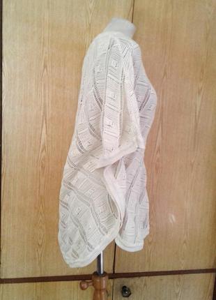 Хлопковая накидка молочгого цвета, 5xl, medium.3 фото