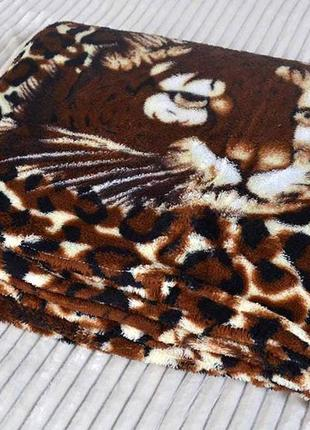 Плед покрывало тигр полуторный